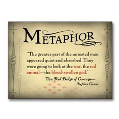 Literary Tools: Metaphor English Literature Poster featuring a quote ...