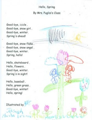 Mrs. Puglisi's students illustrate their poems: