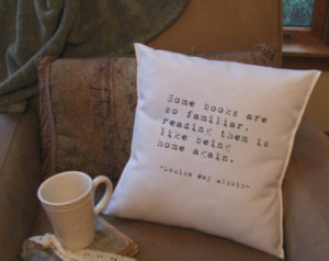 book lover throw pillow cover, book quote pillow ...