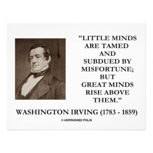 Washington Irving Little Minds Great Minds Quote Flyer