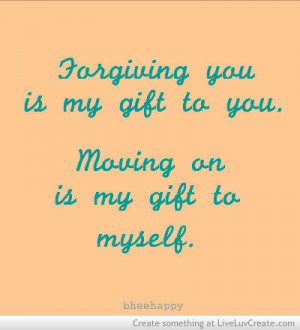 Forgiving Moving On