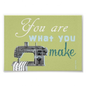 Sewing quote poster