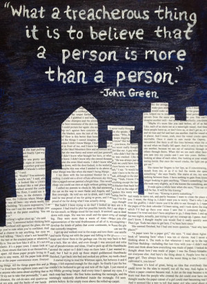 ... for this image include: john green, quote, paper towns, love and text
