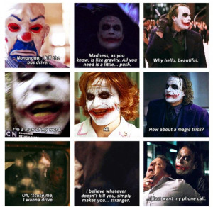 The Dark Knight, The Joker Quotes Collage