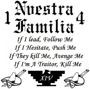 of gang nuestra familia is a prison gang consisting of mainly mexican ...