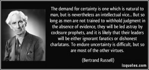 for certainty is one which is natural to man, but is nevertheless ...
