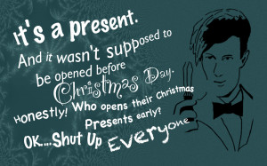 DOCTOR WHO QUOTES CHRISTMAS