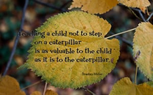 Teaching a child not to step on... quote wallpaper