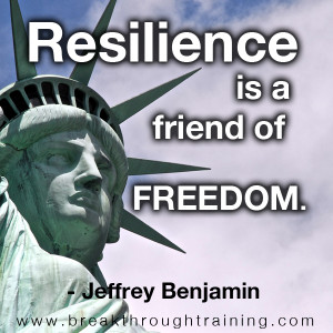 resilience is a friend of freedom jeffrey benjamin quote