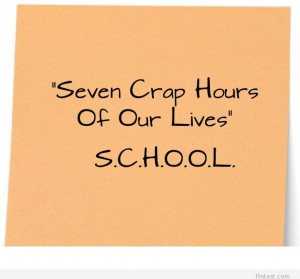 Funny school quote image