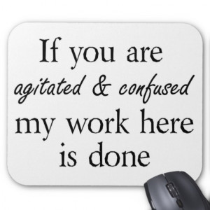 Funny quotes mousepads joke gifts humour mouse pad