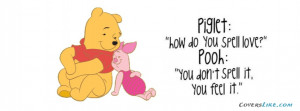 Pooh Bear Quote Facebook Timeline Cover