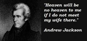 President jackson - love for wife.