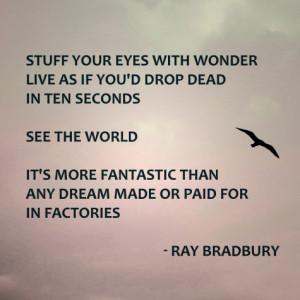 Favorite Quotations of Ray Bradbury