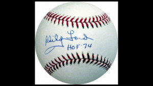 Whitey Ford Autographed Baseball