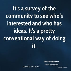 It's a survey of the community to see who's interested and who has ...