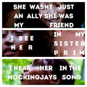 Hunger Games Quotes Katniss And Rue Hunger games quote / catching