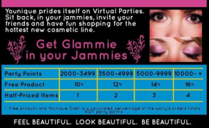 host a younique virtual party for younique cash and credits november ...