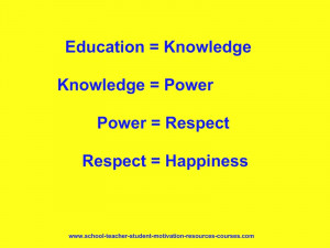 quotes. Education equals knowledge. A very powerful quotation ...