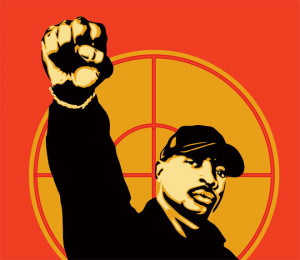 Chuck D of Public Enemy Fight The Power Artwork