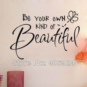 Wholesale Be Your Own Beautiful Wall Quote Decals Stickers Decor ...