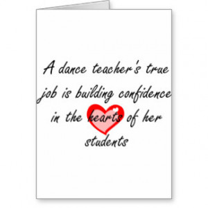 Dance Teacher - Building Confidence Card