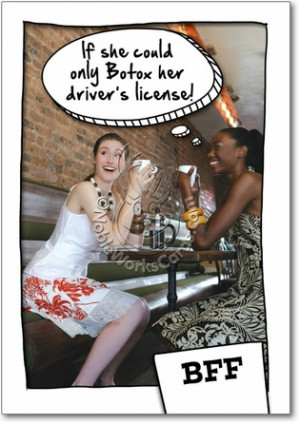 Botox Driver License Inappropriate Humorous Birthday Paper Card ...