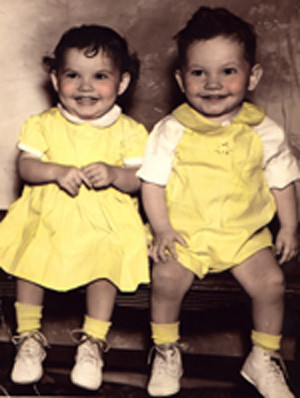 Twins Margaret Kay and Franklin Ray George and twins Clara andRoger
