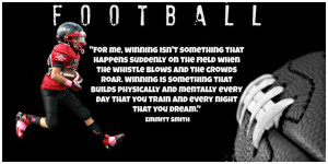 FOOTBALL QUOTE for Big E's room