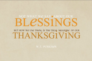 Thanksgiving Quote …one My