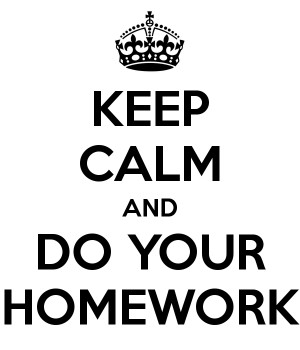 WEEKLY HOMEWORK ROUTINE