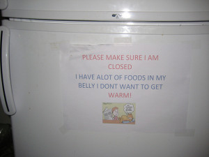 Funny Office Refrigerator Clean Out