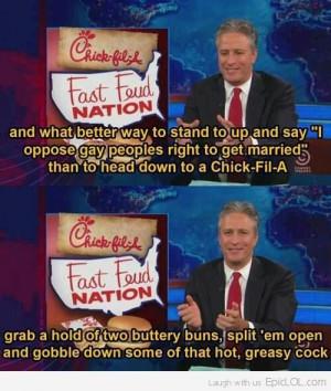 Jon Stewart On Chick-Fil-A