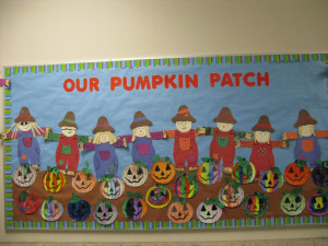 and here s our finished pumpkin patch board the pumpkins are part of ...