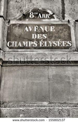 Paris France Chands Elysees