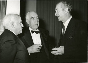 David Ben-Gurion, Niels Bohr and Linus Pauling at the King David Hotel ...