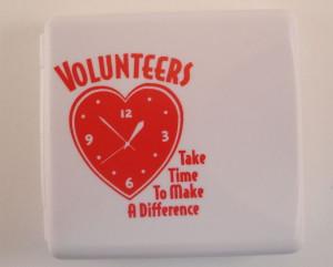 Volunteers Red Heart Clock Digital Travel Alarm Clock Picture Frame ...