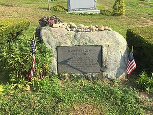 Harry Chapin's gravestone in the Huntington Rural Cemetery, Huntington ...