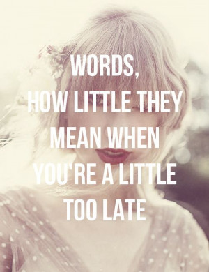 Sad Beautiful Tragic. One of my favorite songs on Taylor Swift's new ...