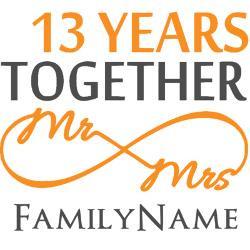 13th_anniversary_wedding_greeting_card.jpg?height=250&width=250 ...