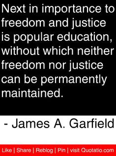 ... can be permanently maintained. - James A. Garfield #quotes #quotations