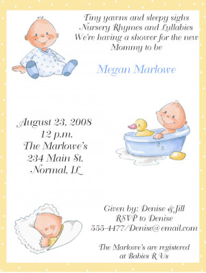 Ideas of Baby Shower Invitations for boys