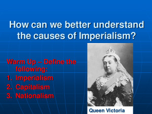 PowerPointB5 Imperialism and the Victorian Era by wanghonghx