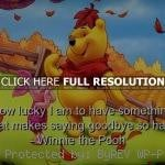 winnie the pooh, quotes, sayings, quote, lucky, goodbye, brainy winnie ...