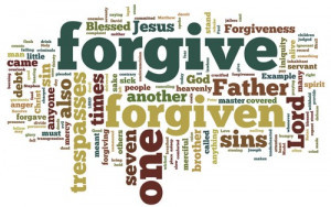 ... image shows the word density from these forgiveness scripture quotes