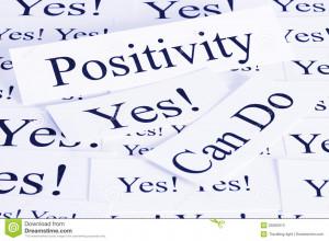 conceptual look at positivity, can do, attitude.
