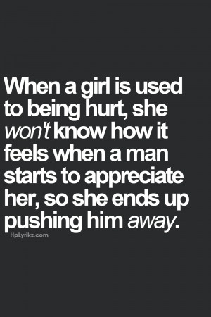 Hurt Quotes Tumblr For Him Girl is used t being hurt,
