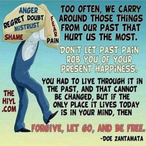Forgive, let go, and be free...