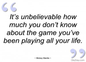 Mickey Mantle Quotes Mickey mantle