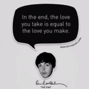 My motto.....thanks Beatles
